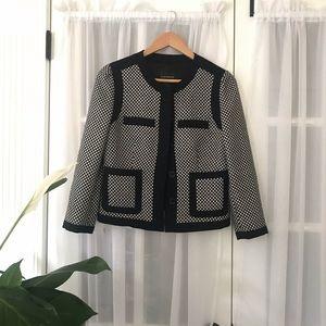 Club Monaco Polka Dot Wool blend Blazer Cardigan